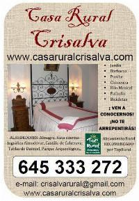 CASA RURAL CRISALVA EN CIUDAD REAL, TURISMO RURAL DE CALIDAD