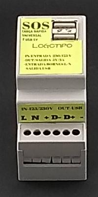 NUEVO CARGADOR de Emergencia 5V 3A Universal Carga Rápida DIN