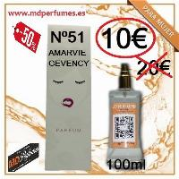 Perfume Mujer Nº 51 Amarvie Gevency equivalente de Alta Gama