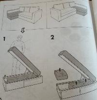 Sofá cama Manstad Ikea