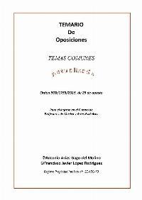 Temas Comunes Conservatorio Oposiciones 2019