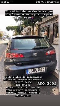 Seat Ibiza 1.4gasolina  50.200km