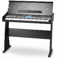 Piano digital con soporte, color negro