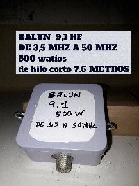 BALUN 1,6 DE HILO CORTO HF