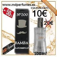 Perfume equivalente hombre Nº200 BAMBA A. Domingo 100ml alta gama