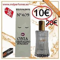 Perfume equivalente mujer n 409  Onia Cristalino Bulgaly 100ml