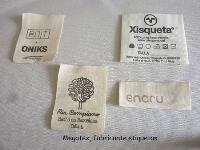 Etiquetas algodón personalizadas con logotipos