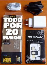 bateria externa de 20.000mah y regalo accesorios