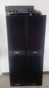 amplificador + 4 altavoces 70w