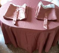 cortina y funda mesa de raso