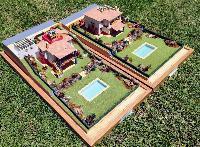 Maquetas de vivienda unifamiliar