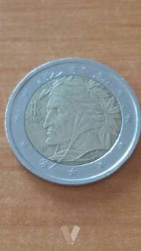 Moneda 2 euros Dante Italia