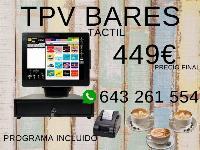 TPV TÁCTIL COMPLETO BARES Y RESTAURANTES