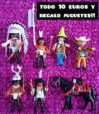 6 clicks de playmobil y regalo juguetes