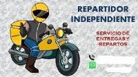 HAGO TRABAJOS DE REPARTOS DE MENSAJERIA Y PAQUETERIA EXPRESS EN MOTO