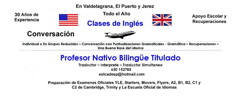 Clases de Ingles en Jerez.  Intensivo