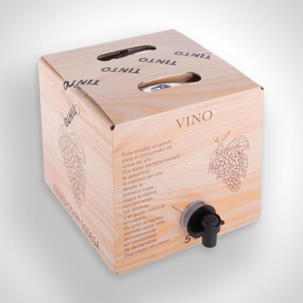 Vino tinto en Bag in Box de 15 litros.