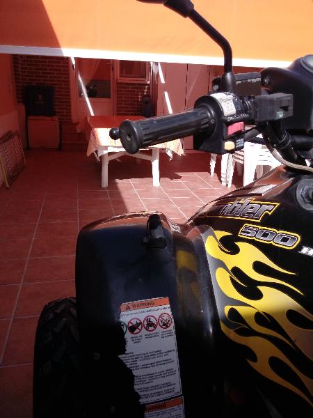 Atv 4x4 500cc con accesorios maleta, toma de mechero,   - Foto 3