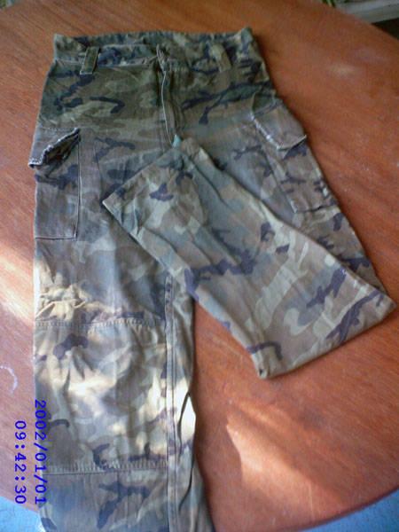 Pantalón camuflage : talla 36 a 38(15€) 40-42(20€)