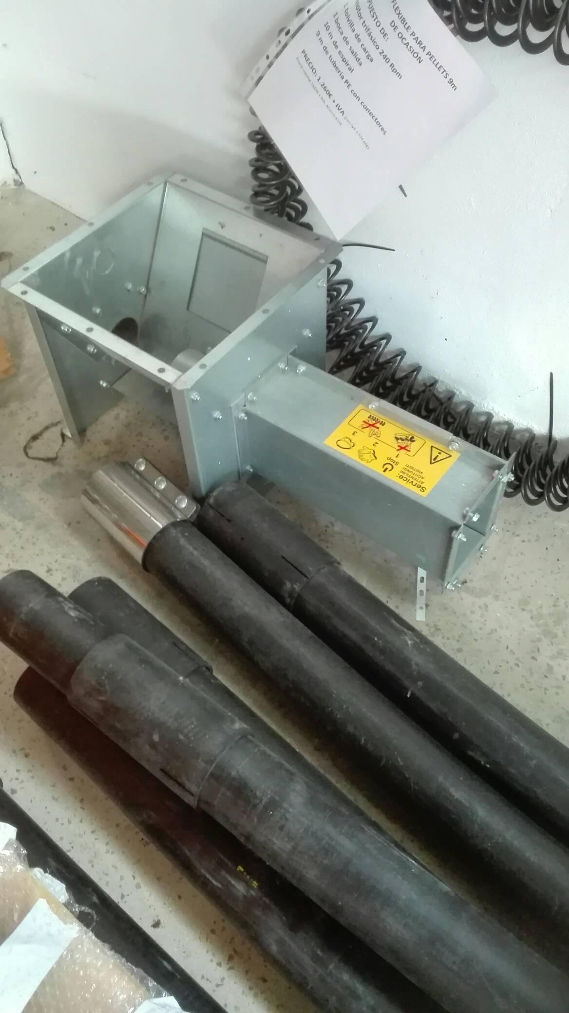 Sinfín flexible para transporte de pellets 9m de ocasión...  - Foto 5