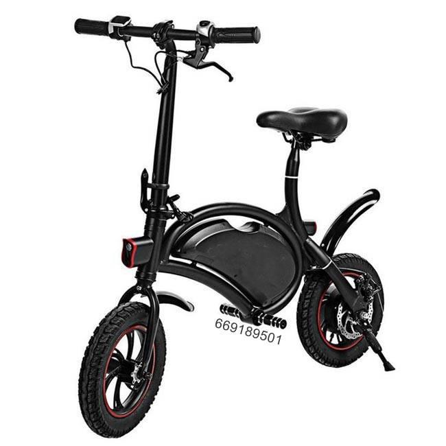Bicicleta Scooter electrica plegable color negra nueva estrenar