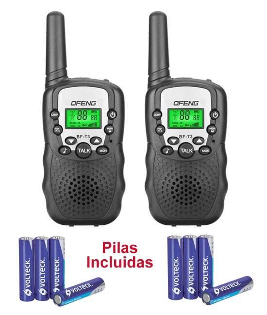 Pareja de walkies, con 8 canales y 500mW de potencia