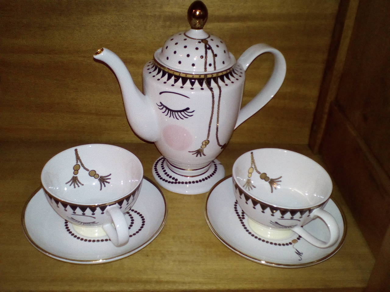 Juego de Té Miss Etoile (porcelana fina danesa vintage)