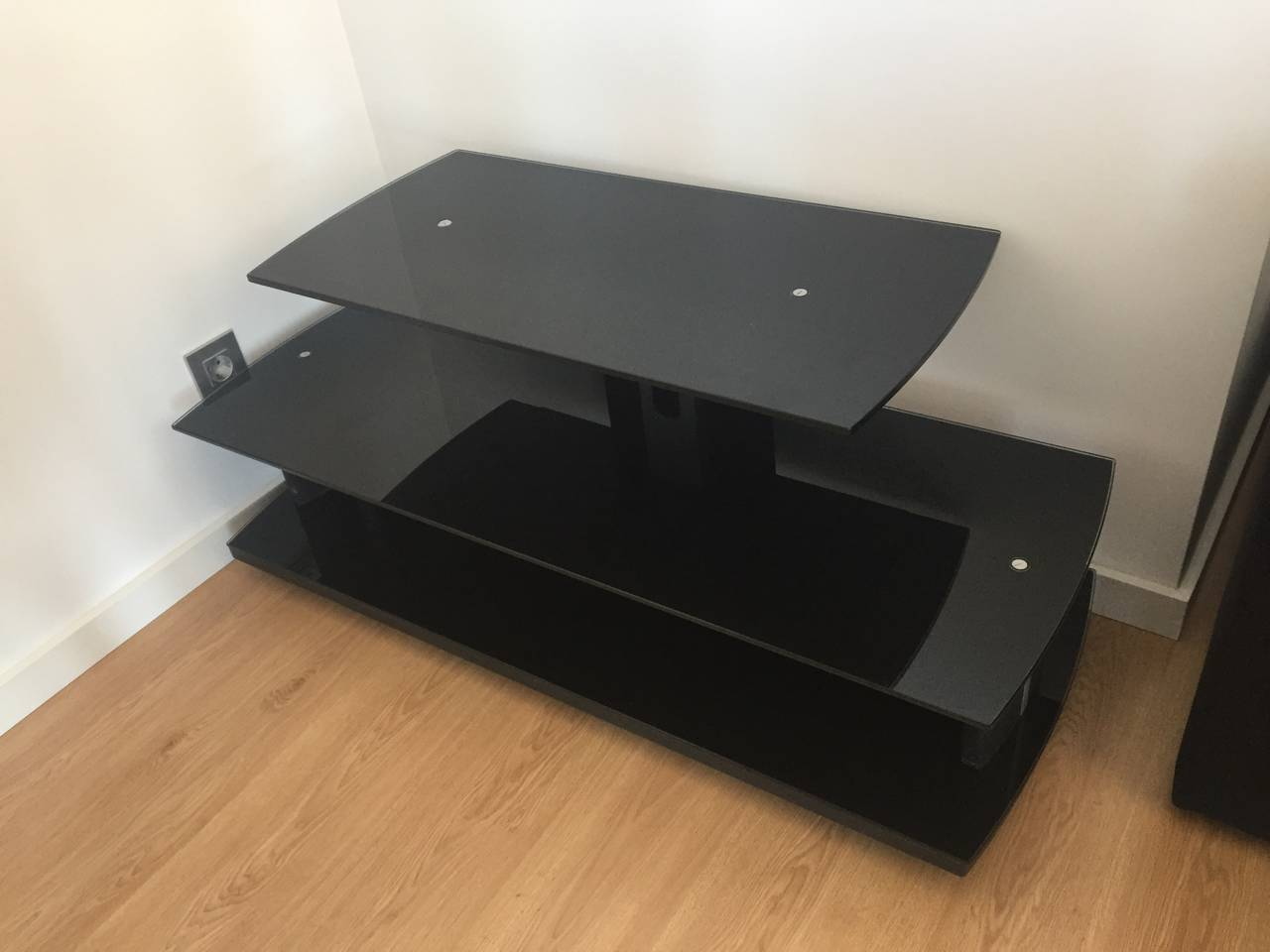 Mesa televisor negra