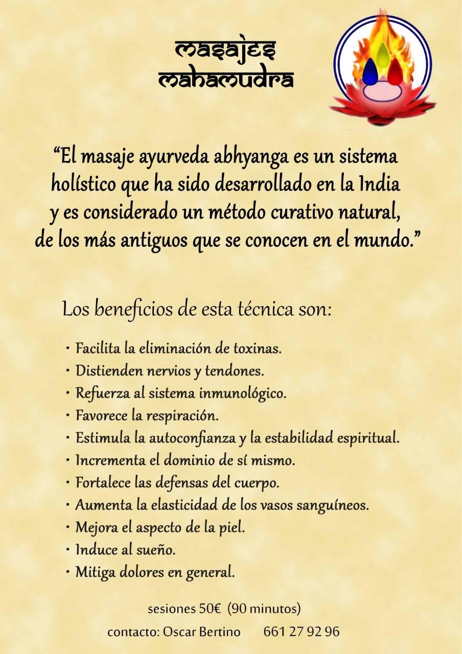 Masaje Ayurvedico Abhyanga