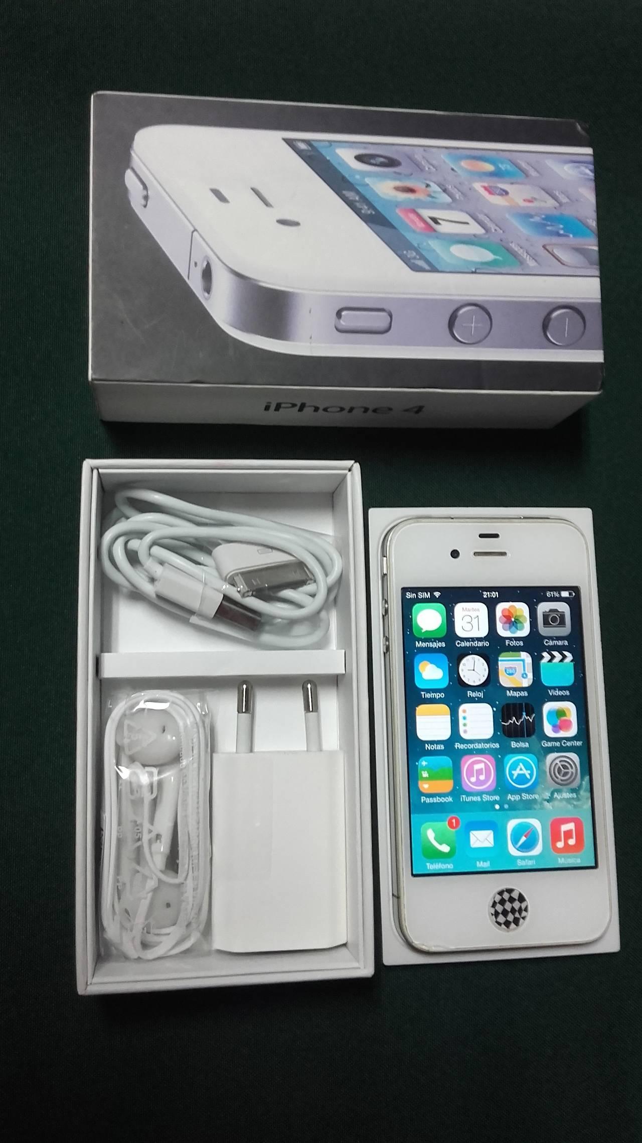 IPhone 4, 16 GB, Blanco.