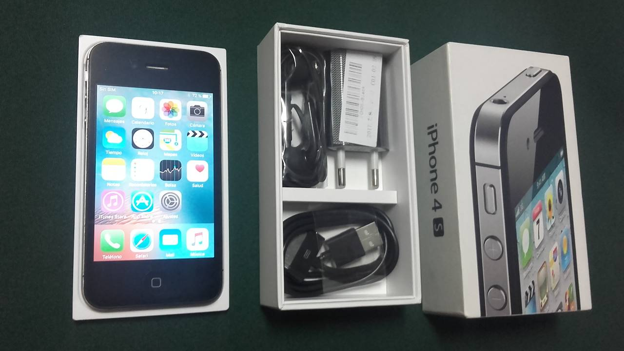 IPhone 4S, 16 GB, Negro.