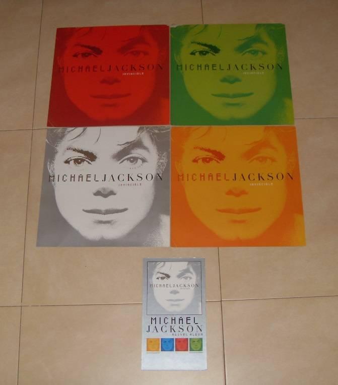 Set de cartones promocionales Invincible Michael Jackson