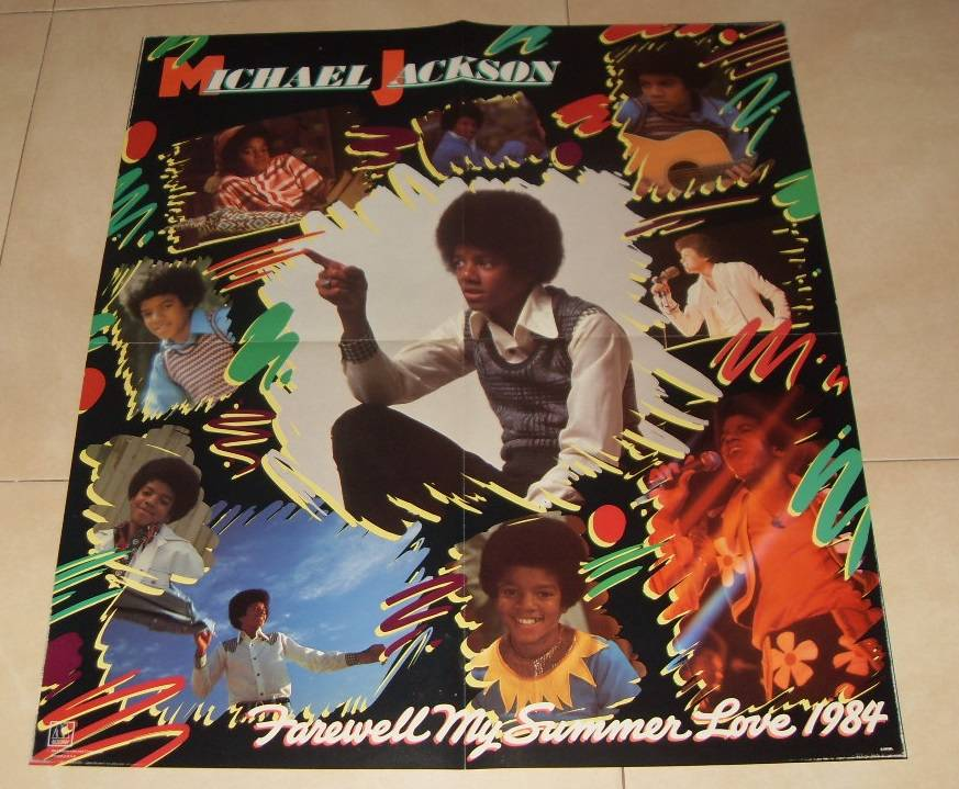 Poster Michael Jackson Farewell My Summer Love 1984