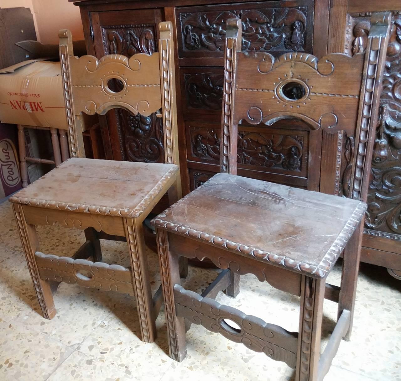 Aparador y sillas antiguos  - Foto 3