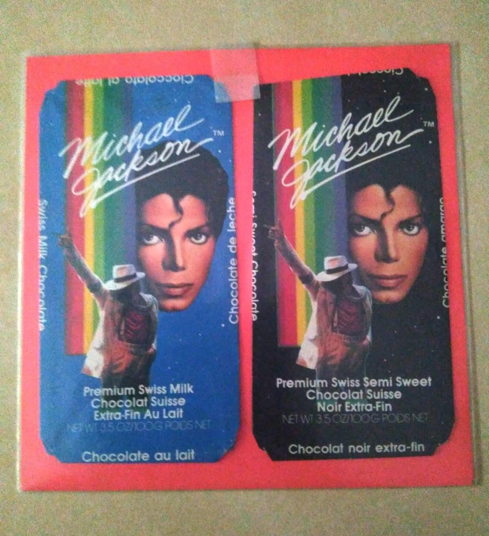 Envoltorios tabletas chocolate Moonwalker Michael Jackson