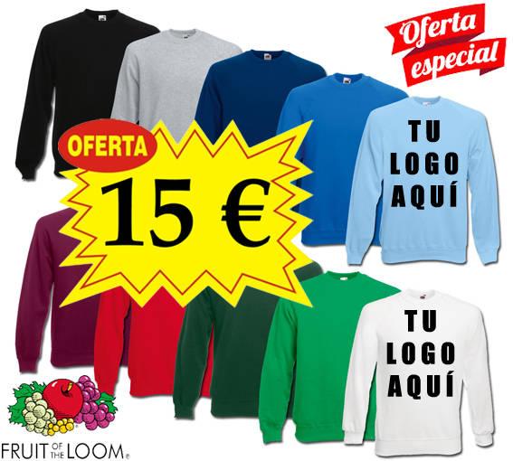 Sudaderas sin capucha con tu logo personalizado por solo 15 euros, usado segunda mano  Barcelona