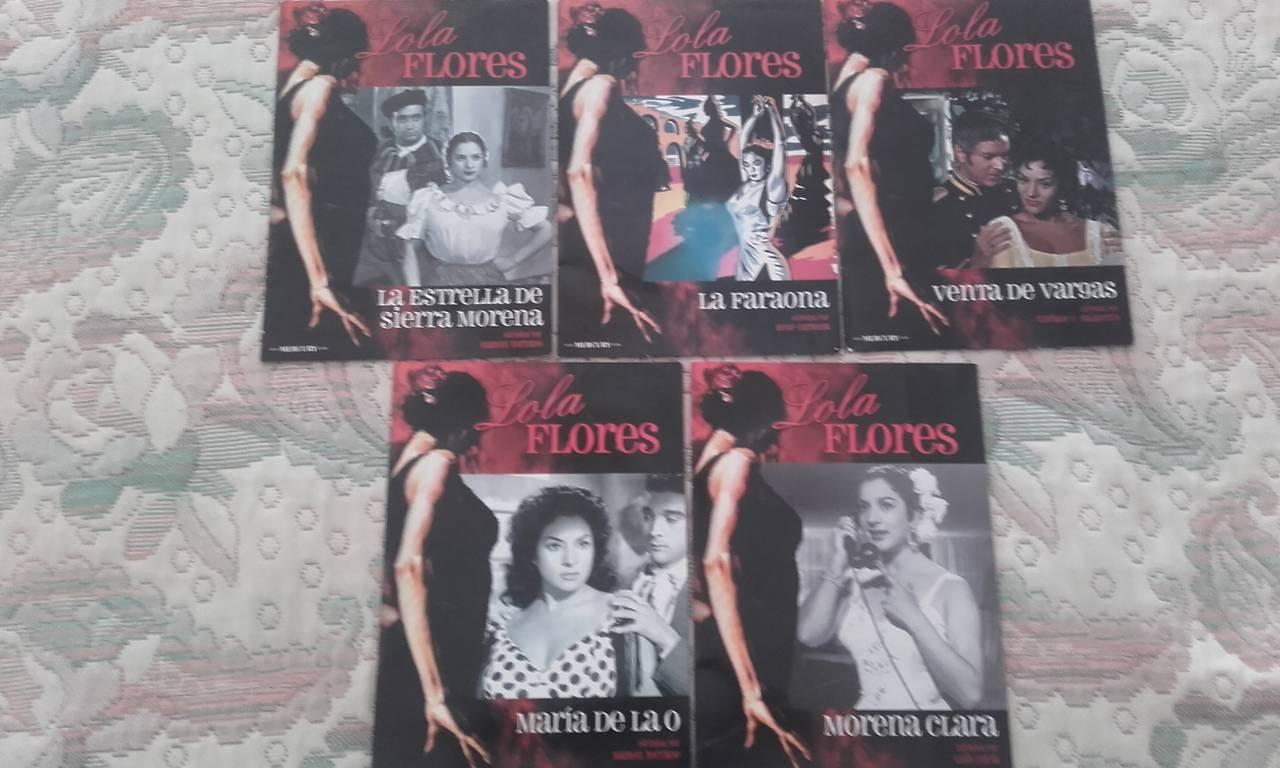 VENDO LOTE PELICULAS DVD LOLA FLORES (5 EJEMPLARES)