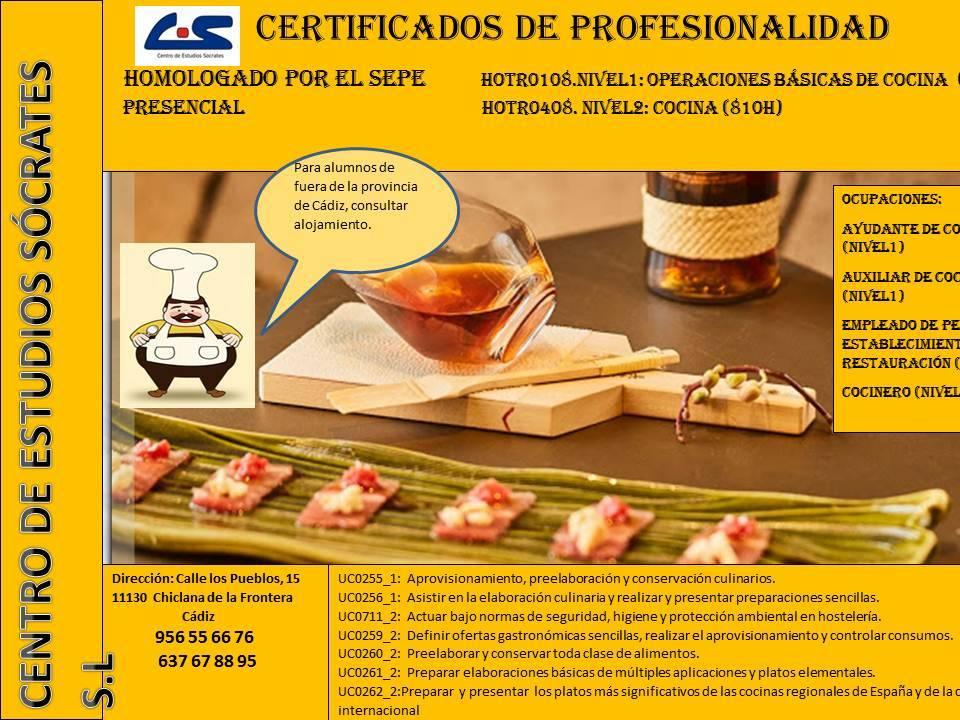 CERTIFICADO DE PROFESIONALIDAD COCINA  - Foto 1