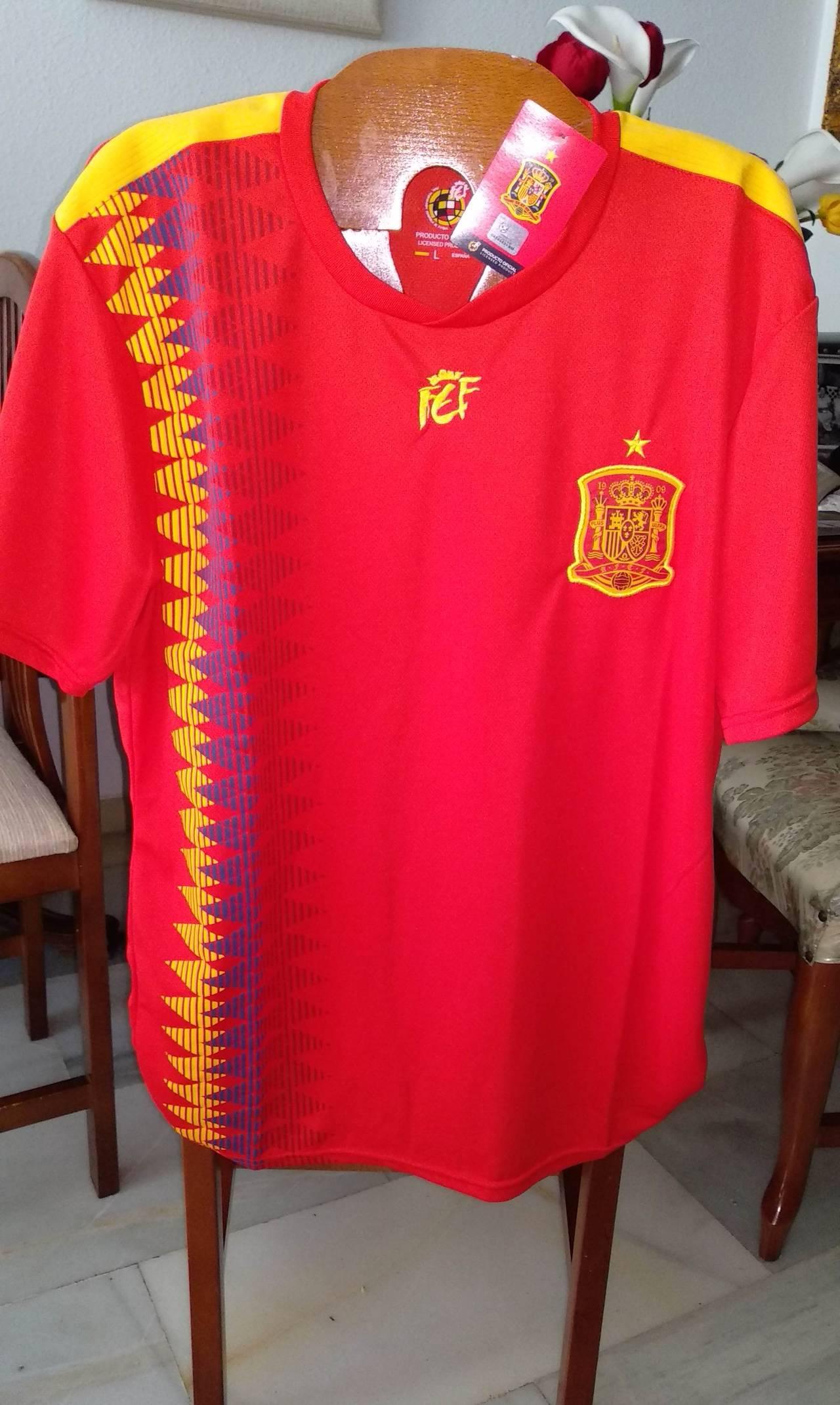 Camiseta Oficial RFEF Selección Española de Fútbol 2018 - Cambalache 25c2e43855b93