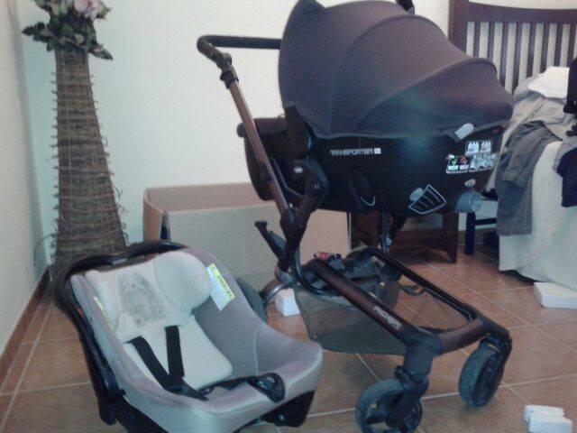 Conjunto capazo,grupo 0 y silla bebe