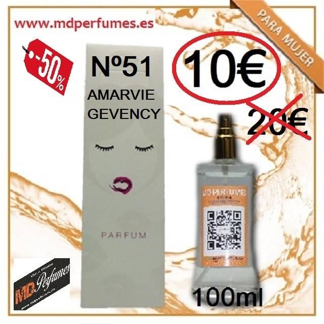 Perfume Mujer Nº 51 Amarvie Gevency equivalente de Alta Gama  - Foto 1