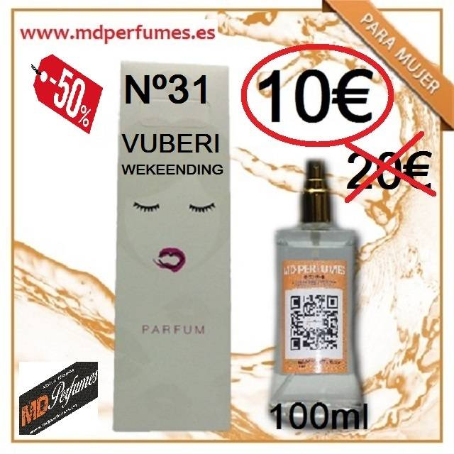 Perfume MUJER BERRY WEKENDING equivalente N31  de Alta Gama 100ml 1...  - Foto 1