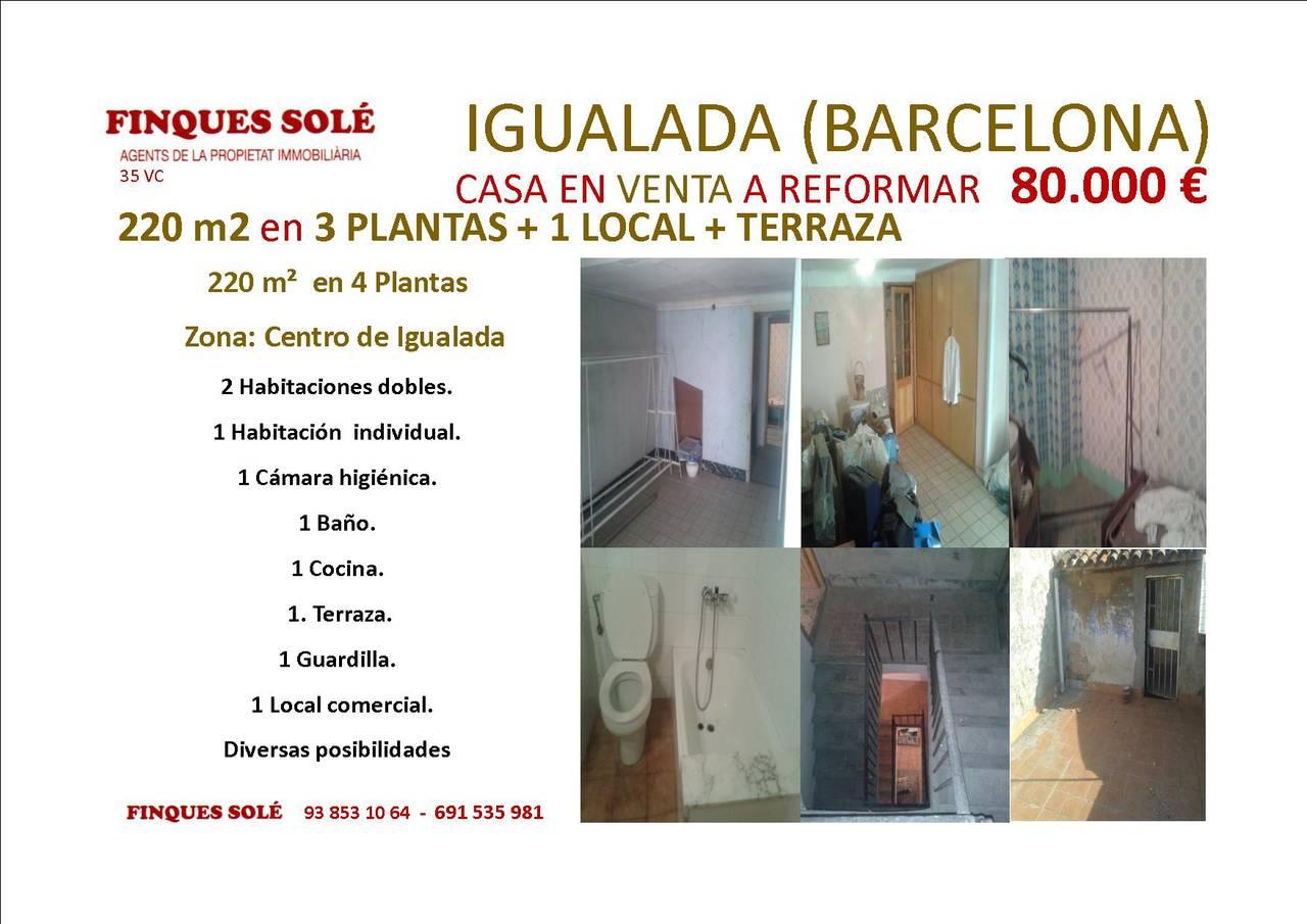 Casa y Local a reformar en Venta - Igualada  - Foto 1