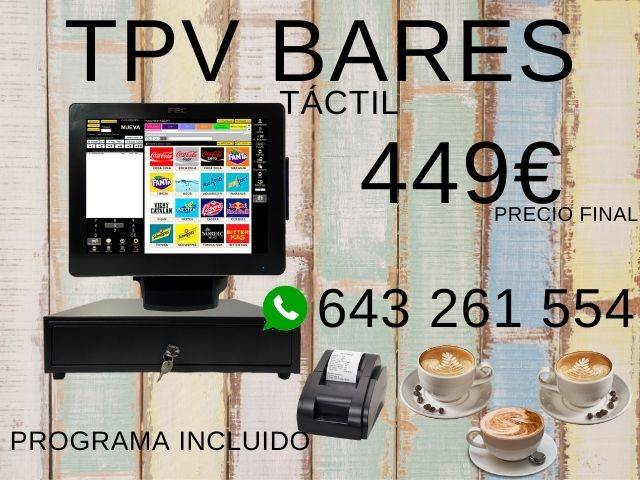 TPV TÁCTIL COMPLETO BARES Y RESTAURANTES  - Foto 1