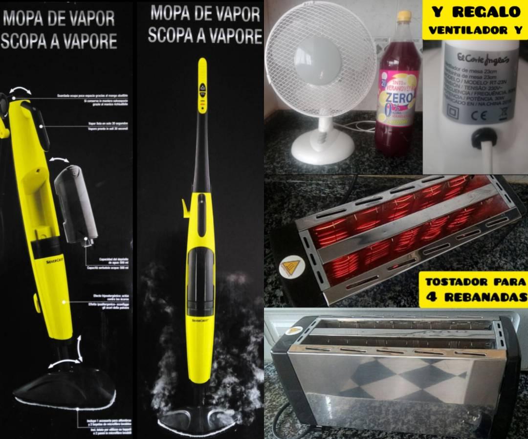 mopa a vapor y regalo tostador y un ventilador  - Foto 1