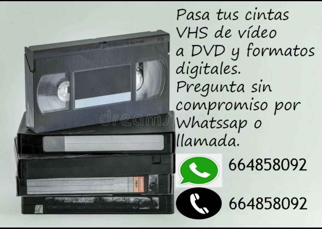 Se pasan cintas VHS,Mini-DV  y de 8mmde cámaras antiguas a DVDS y f...  - Foto 2