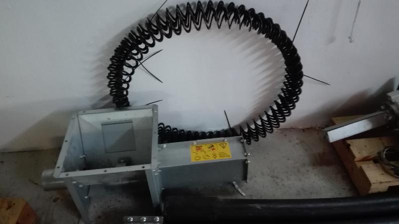 Sinfín flexible para transporte de pellets 9m de ocasión...  - Foto 1